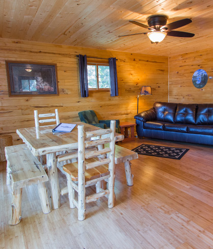 Harmony Beach cabin interior view